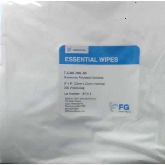 Tissus  non tissé 55% cellulose - 45% polyester  ISO 5-8